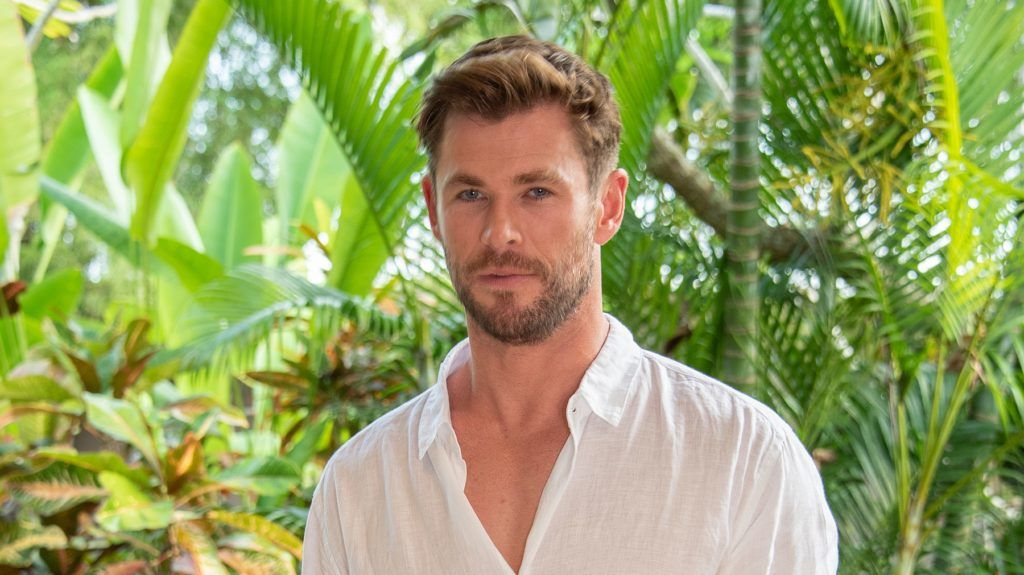 """NUSA DUA, INDONESIA - MAY 27: Chris Hemsworth at the """"Men In Black: International"""" Press Conference on May 27, 2019 in Nusa Dua, Bali, Indonesia. (Photo by Vera Anderson/WireImage)"""