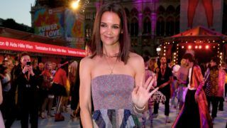 VIENNA, AUSTRIA - JUNE 08: Katie Holmes arrives for the Life Ball 2019 at City Hall on June 08, 2019 in Vienna, Austria. After 26 years the charity event Life Ball will take place for the very last time, raising funds for HIV & AIDS projects. (Photo by Thomas Niedermueller/Life Ball 2019/Getty Images)