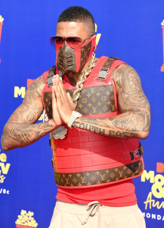 SANTA MONICA, CALIFORNIA - JUNE 15:  Nick Cannon arrives at the 2019 MTV Movie And TV Awards  at Barker Hangar on June 15, 2019 in Santa Monica, California. (Photo by Steve Granitz/WireImage)