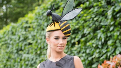 ASCOT, ENGLAND - JUNE 18:  A racegoer attends day one of Royal Ascot at Ascot Racecourse on June 18, 2019 in Ascot, England. (Photo by Samir Hussein/WireImage)