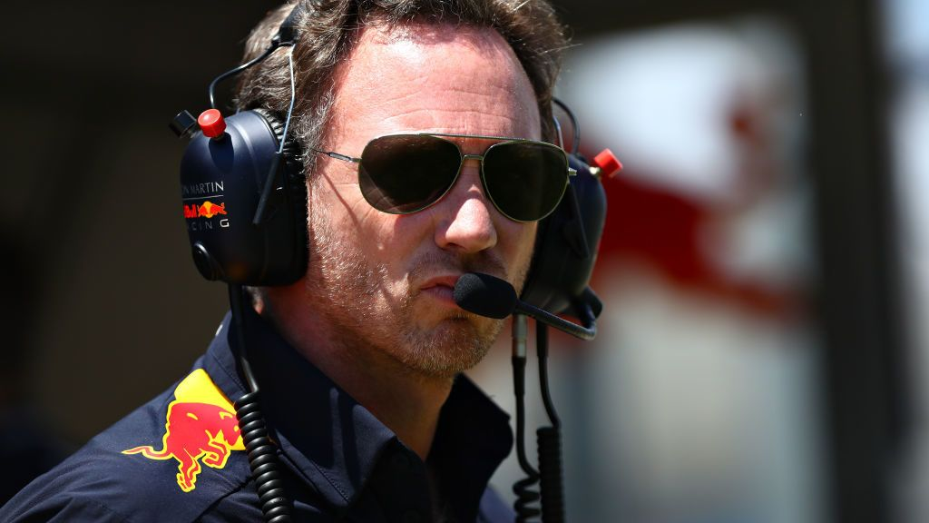 LE CASTELLET, FRANCE - JUNE 22: Red Bull Racing Team Principal Christian Horner looks on from the pitwall during final practice for the F1 Grand Prix of France at Circuit Paul Ricard on June 22, 2019 in Le Castellet, France. (Photo by Dan Istitene/Getty Images)