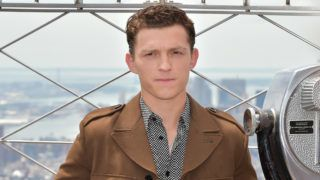 """NEW YORK, NEW YORK - JUNE 24:  Tom Holland attends Stars Of """"Spider-Man: Far From Home"""" Light The Empire State Building at The Empire State Building on June 24, 2019 in New York City. (Photo by Theo Wargo/Getty Images)"""