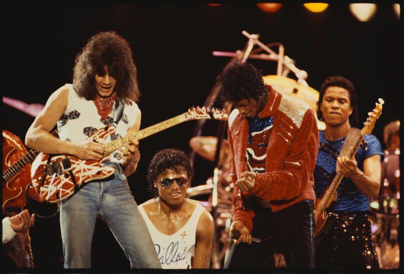 Eddie Van Halen Randy Jackson, Michael Jackson Žs Jermaine Jackson 1983. Fot—:Lynn Goldsmith/Corbis/VCG/ Getty Images