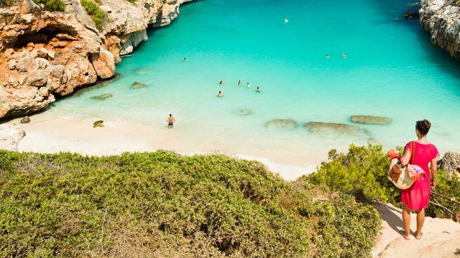 Calo des Moro, Mallorca. Spain. One of the most beautiful beaches in Mallorca.