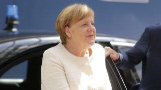 Brüsszel, 2019. június 20. Angela Merkel német kancellár az EU-tagországok állam- és kormányfõinek kétnapos csúcstalálkozójára érkezik Brüsszelben 2019. június 20-án. MTI/EPA/Julien Warnand