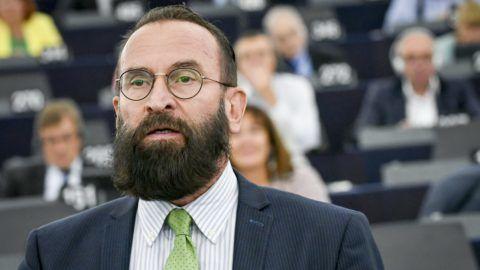 Strasbourg, 2018. szeptember 11. Az Európai Parlament Multimédiás Központja által közreadott képen Szájer József fideszes európai parlamenti képviselõ felszólal a Sargentini-jelentés vitáján az Európai Parlament plenáris ülésén, Strasbourgban 2018. szeptember 11-én. (MTI/Európai Parlament Multimédiás Központja/Genevieve Engel)