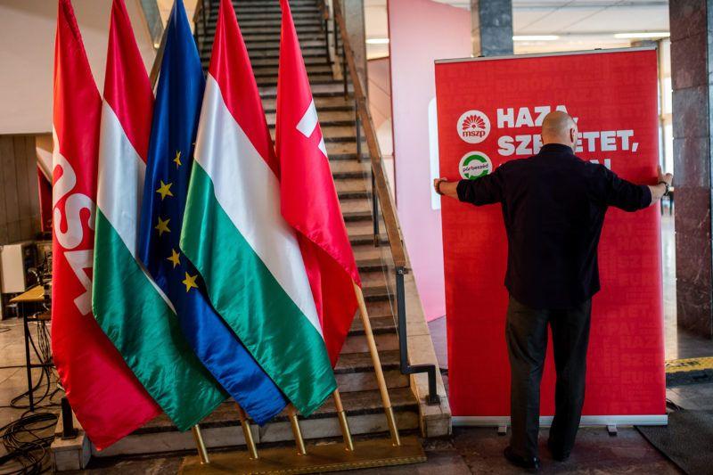 Image: 73897006, Az MSZP és a Párbeszéd EP-választási eredményvárója, Place: Budapest, Hungary, Model Release: No or not aplicable, Property Release: Yes, Credit: smagpictures.com