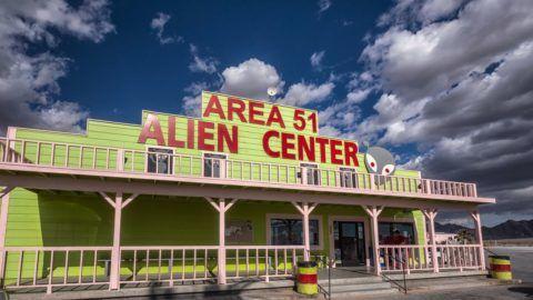 LAS VEGAS - JANUARY 25, 2018 : Area 51 at Nevada, USA.