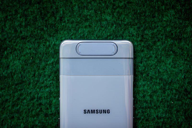"""Image: 73909233, Samsung Galaxy A80 - forgatható kamerás okostelefon. A hátlapi kamera fordul át """"szelfikamerának"""" így jobb képminõség érhetõ el., Place: Budapest, Hungary, Model Release: No or not aplicable, Property Release: Yes, Credit: smagpictures.com"""