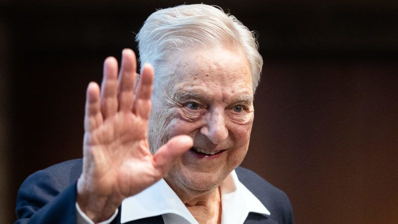 Hungarian-born US investor and philanthropist George Soros talks to the audience after receiving the Schumpeter Award 2019 in Vienna, Austria on June 21, 2019. (Photo by GEORG HOCHMUTH / APA / AFP) / Austria OUT