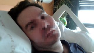 """(FILES) In this handout file photo taken on June 3, 2015 and released by the family of Vincent Lambert shows Vincent Lambert, a quadriplegic man on artificial life support at the CHU of Reims. - French doctors are set to begin turning off life support on July 2, 2019 for quadriplegic road accident victim Vincent Lambert, the latest twist in a hugely controversial right-to-die case that has drawn in Pope Francis. (Photo by HO / FAMILY HANDOUT / AFP) / RESTRICTED TO EDITORIAL USE - MANDATORY CREDIT """"AFP PHOTO / FAMILY HANDOUT"""" - NO MARKETING NO ADVERTISING CAMPAIGNS - DISTRIBUTED AS A SERVICE TO CLIENTS"""