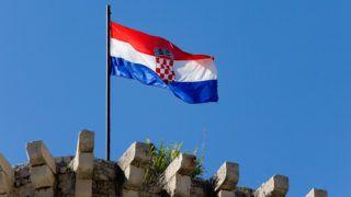 CROATIA. DALMATIA. TROGIR VILLAGE (UNESCO WORLD HERITAGE) KARMELENGO FORTRESS