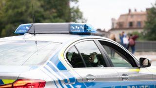 Blue light on a police car in Munich, Germany on 30 July 2019. (Photo by Alexander Pohl/NurPhoto)