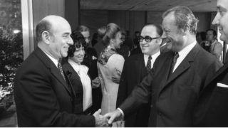 Bundeskanzler Willy Brandt empfängt Filmschauspieler