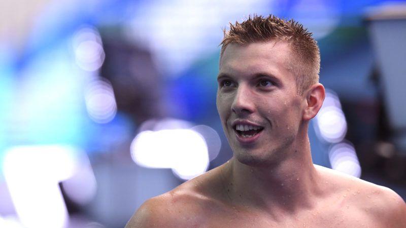 Kvangdzsu, 2019. július 22. Kozma Dominik a férfi 200 méteres gyorsúszás elõfutama után a 18. vizes világbajnokságon a dél-koreai Kvangdzsuban 2019. július 22-én. MTI/Kovács Tamás