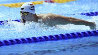 Kvangdzsu, 2019. július 23. Kenderesi Tamás a férfi 200 méteres pillangóúszás elõdöntõjében a 18. vizes világbajnokságon a dél-koreai Kvangdzsuban 2019. július 23-án. MTI/Kovács Tamás