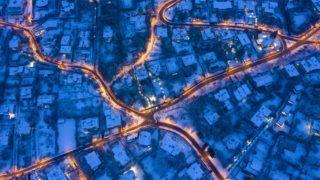Budapest, 2019. január 9. Behavazott utcák Budapesten, a II. kerületben 2019. január 9-én. MTI/Mohai Balázs