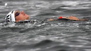 Joszu, 2019. július 19. Rasovszky Kristóf, miután feladta a versenyt a nyíltvízi úszók férfi 25 kilométeres távján a 18. vizes világbajnokságon a dél-koreai Joszuban 2019. július 19-én. MTI/Kovács Tamás
