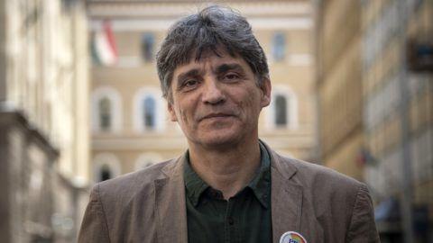 Budapest, 2018. április 20. Szûcs Tamás, a Pedagógusok Demokratikus Szakszervezetének (PDSZ) újonnan megválasztott ügyvezetõ elnöke a PDSZ székházában 2018. április 20-án. MTI Fotó: Szigetváry Zsolt