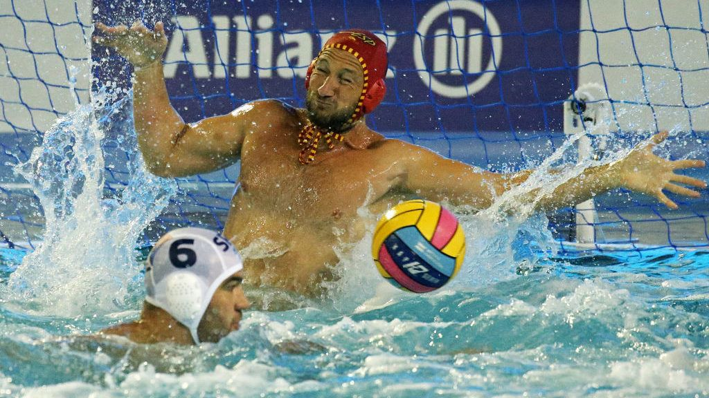 Dani Lopez (Spain) during the match between Serbia and Spain, corresponding to the final of the European Water Polo Championships, on 28th July, 2018, in Barcelona, Spain.    -- (Photo by Urbanandsport/NurPhoto via Getty Images)