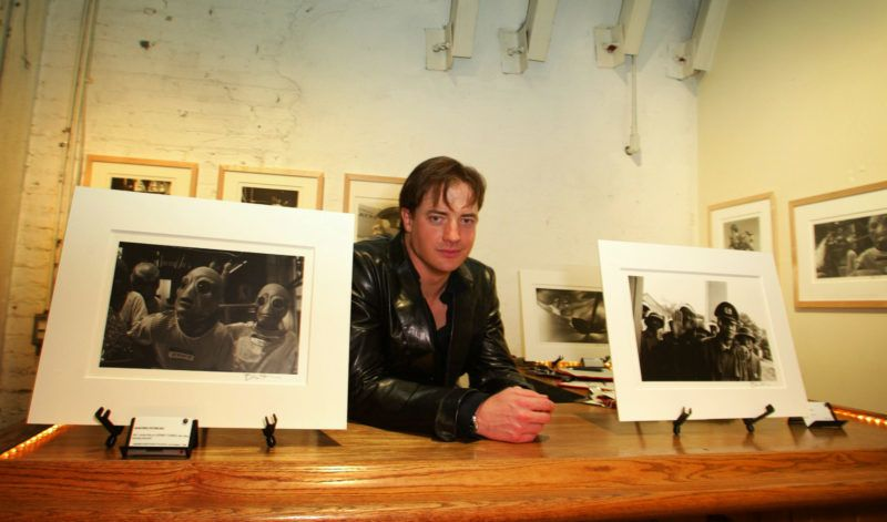 Brendan Fraser during Opening Night Exhibition Of Photographs By Brendan Fraser To Benefit The 24th Street Theater at 24th Street Theatre in Los Angeles, California, United States. (Photo by Donato Sardella/WireImage)