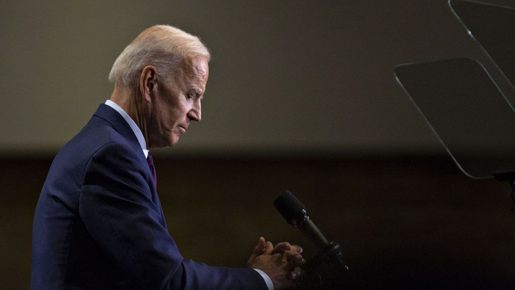 Former U.S. Vice President Joe Biden, 2020 Democratic presidential candidate, pauses while speaking during the Rainbow PUSH Coalition Annual International Convention in Chicago, Illinois, U.S., on Friday, June 28, 2019. Bidendefended his civil rights record on Friday, a day after being put on the defensive over racial issues by SenatorKamala Harris during a candidates debate in Miami. Photographer: Daniel Acker/Bloomberg via Getty Images