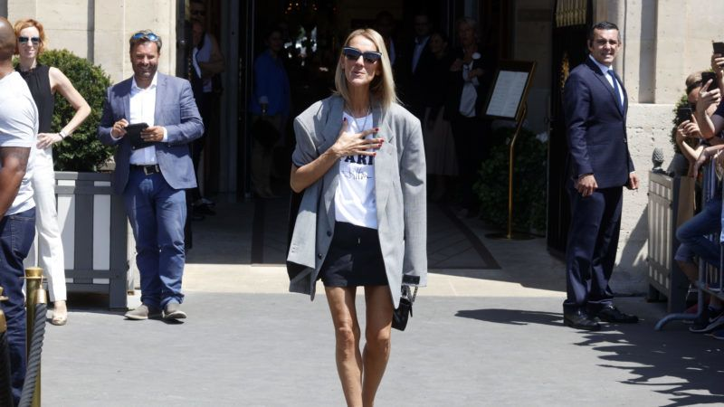 Singer Celine Dion is seen leaving her hotel in Paris, France, on  July 3rd, 2019. (Photo by Mehdi Taamallah/NurPhoto via Getty Images)