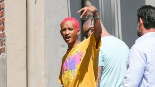 LOS ANGELES, CA - JULY 10: Jaden Smith is seen arriving at 'Jimmy Kimmel Live' on July 10, 2019 in Los Angeles, California.  (Photo by BG017/Bauer-Griffin/GC Images)