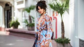 CANNES, FRANCE - JUNE 18: Camila Cabello is seen wearing pants and belted coat Johanna Ortiz on June 18, 2019 in Cannes, France. (Photo by Christian Vierig/Getty Images)