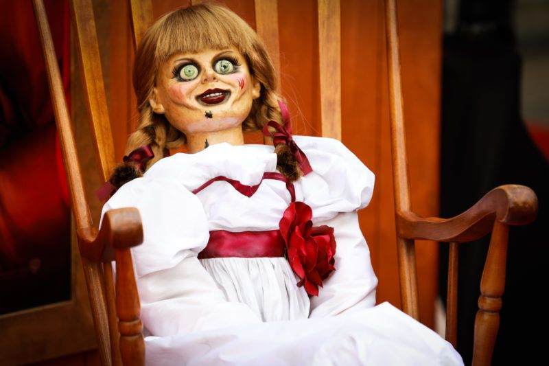 """WESTWOOD, CALIFORNIA - JUNE 20: A doll is seen at the premiere of Warner Bros' """"Annabelle Comes Home"""" at Regency Village Theatre on June 20, 2019 in Westwood, California. (Photo by Rich Fury/FilmMagic)"""
