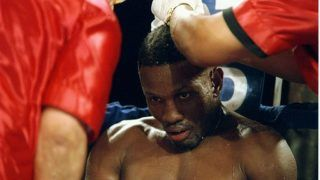 20 Sep 1996:  Pernell Whitaker sits in his corner during a fight against Wilfredo Rivera at the James L. Knight Center in Miami, Florida.  Whitaker won the fight in twelve rounds. Mandatory Credit: Al Bello  /Allsport