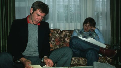 Harrison Ford and Mark Hamill in Living Room   (Photo by Lynn Goldsmith/Corbis/VCG via Getty Images)
