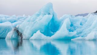 Detial view of iceberg in ice lagoon - Jokulsarlon, Iceland.