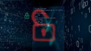 Cyber security breach on digital background concept. Opening padlocks for access to data, computer hacking.