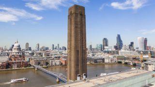 England, London, Tate Modern, View of The City of London Skyline