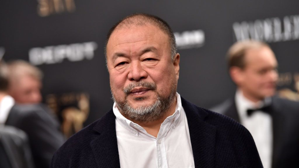The artist Ai Wei Wei arrives for the 69th Bambi Award Ceremony in Berlin, Germany, 16 November 2017. Photo: Britta Pedersen/dpa