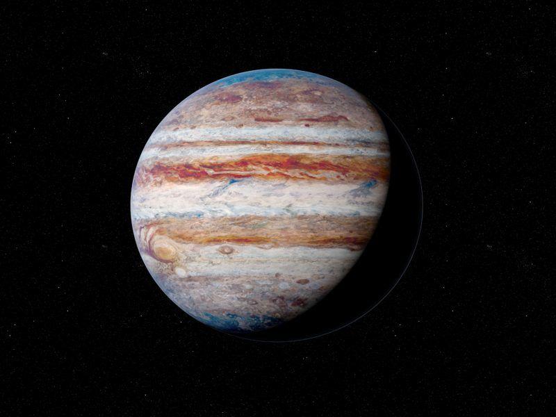 Illustration of Jupiter.