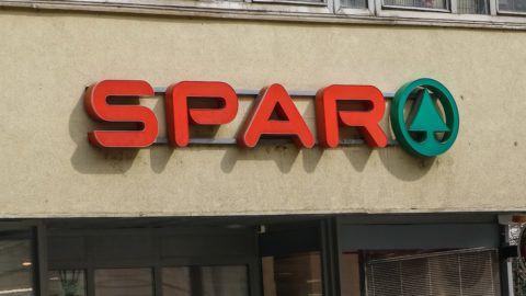 Spar shop is seen in Miskolc, Hungary on 31 March 2018  (Photo by Michal Fludra/NurPhoto)