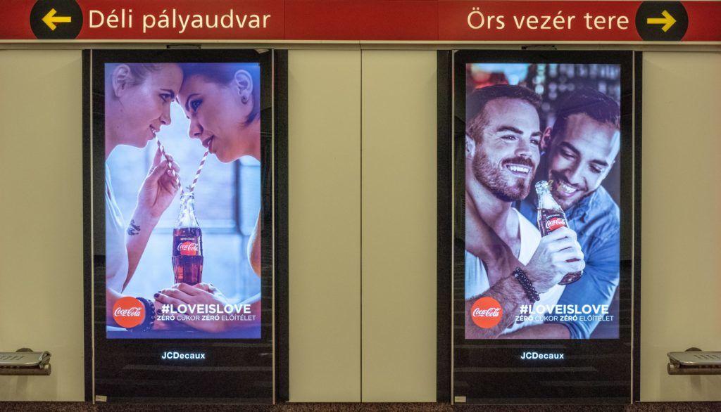 Image: 73912835, Váratlanul nagy felháborodás tört ki a Coca-Cola azonos nemûek közti szerelem elfogadását hirdetõ reklámjai miatt Magyarországon., Place: Budapest, Hungary, Model Release: No or not aplicable, Property Release: Yes, Credit: smagpictures.com