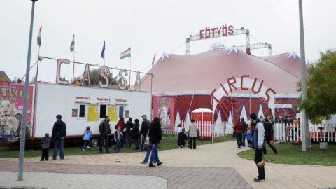 Budapest, 2013. október 13. Az 1920-ban alakult, majd 2010-ben újraalakult Eötvös Cirkusz sátra Budatétényben 2013. október 13-án. MTI Fotó: Czimbal Gyula