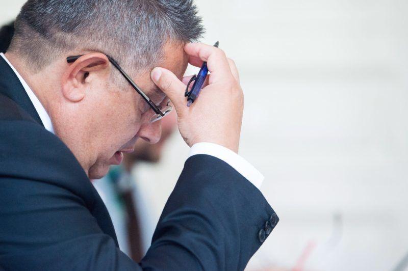 Budapest, 2017. május 31. Balogh János, az Országos Roma Önkormányzat (ORÖ) elnöke a szervezet közgyûlésén Budapesten, az ORÖ Dohány utcai székházban 2017. május 31-én. MTI Fotó: Balogh Zoltán
