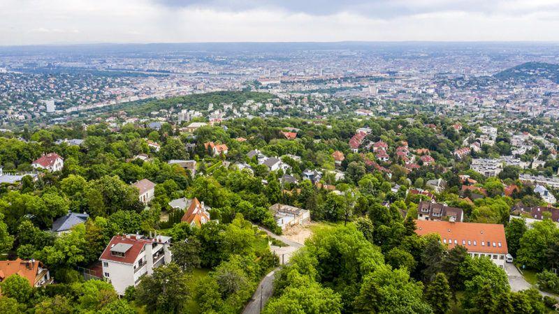 Budapest, 2019. május 12.Budapest látképe Istenhegy felől 2019. május 12-én.MTI/Mohai Balázs
