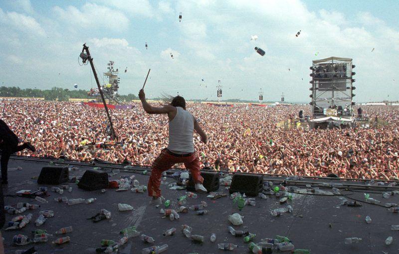 Kid Rock during Woodstock '99 in Saugerties, New York in Saugerties, New York, United States. (Photo by KMazur/WireImage)