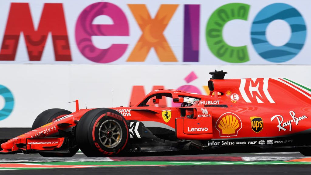 MEXICO CITY, MEXICO - OCTOBER 28:  Sebastian Vettel of Germany driving the (5) Scuderia Ferrari SF71H during the Formula One Grand Prix of Mexico at Autodromo Hermanos Rodriguez on October 28, 2018 in Mexico City, Mexico.  (Photo by Clive Mason/Getty Images)