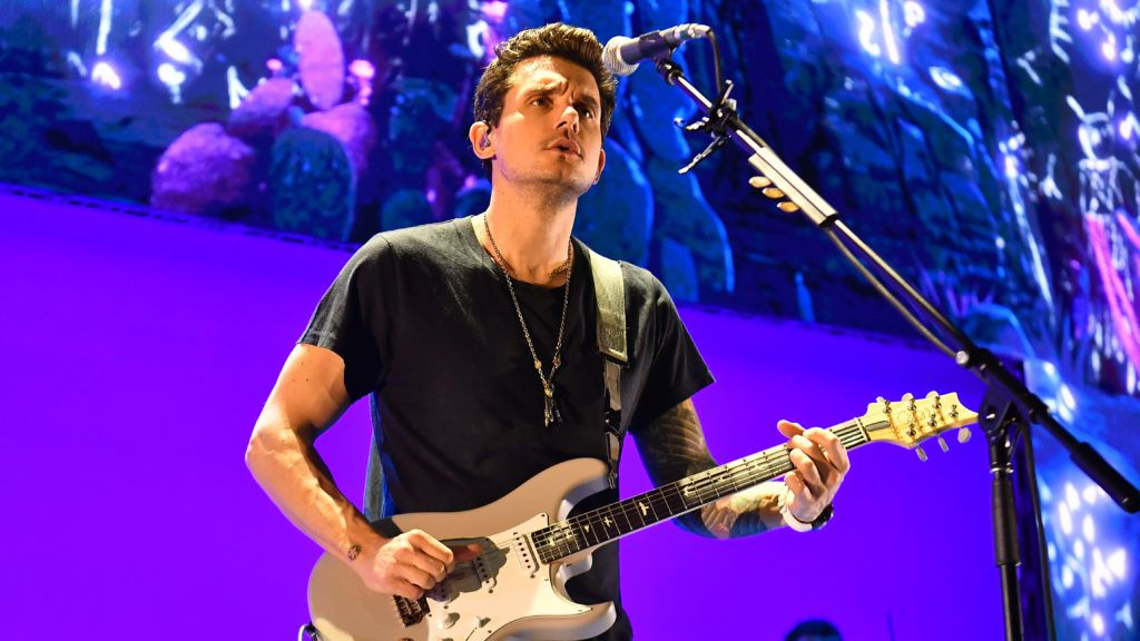 """ATLANTA, GEORGIA - AUGUST 11:  Singer John Mayer performs onstage during his """"Evening With John Mayer"""" tour at State Farm Arena on August 11, 2019 in Atlanta, Georgia. (Photo by Paras Griffin/Getty Images)"""