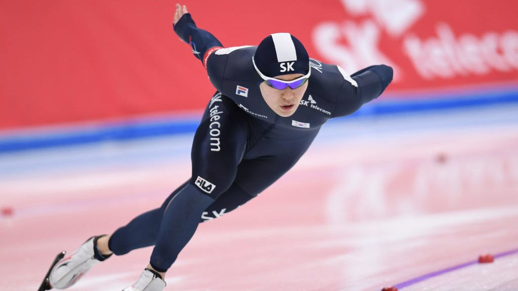 GANGNEUNG, SOUTH KOREA - FEBRUARY 11:  Tae-Yun Kim of South Korea competes in the men 1000m during the ISU World Single Distances Speed Skating Championships - Gangneung - Test Event For Pyeongchang 2018 Olympic Winter Games at Gangneung Oval on February 11, 2017 in Gangneung, South Korea.  (Photo by Atsushi Tomura/Getty Images)