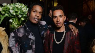 PARIS, FRANCE - JANUARY 21:  ASAP Rocky and Lewis Hamilton attend the Dior Homme Menswear Aftershow Cocktail & Dinner Fall/Winter 2017-2018 show as part of Paris Fashion Week on January 21, 2017 in Paris, France.  (Photo by Francois Durand/Getty Images)