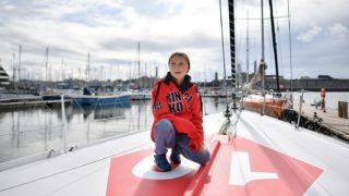 Swedish climate activist Greta Thunberg poses for a photograph during an inteview with AFP onboard the Malizia II sailing yacht at the Mayflower Marina in Plymouth, southwest England, on August 13, 2019 ahead of her journey across the Atlantic to New York where she will attend the UN Climate Action Summit next month. - A year after her school strike made her a figurehead for climate activists, Greta Thunberg believes her uncompromising message about global warming is getting through -- even if action remains thin on the ground. The 16-year-old Swede, who sets sail for New York this week to take her message to the United States, has been a target for abuse but sees that as proof she is having an effect. (Photo by Ben STANSALL / AFP)