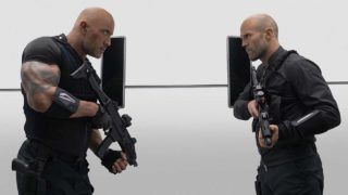 """Luke Hobbs (Dwayne Johnson) and Deckard Shaw (Jason Statham) team up and face off in """"Fast & Furious Presents: Hobbs & Shaw,"""" directed by David Leitch."""