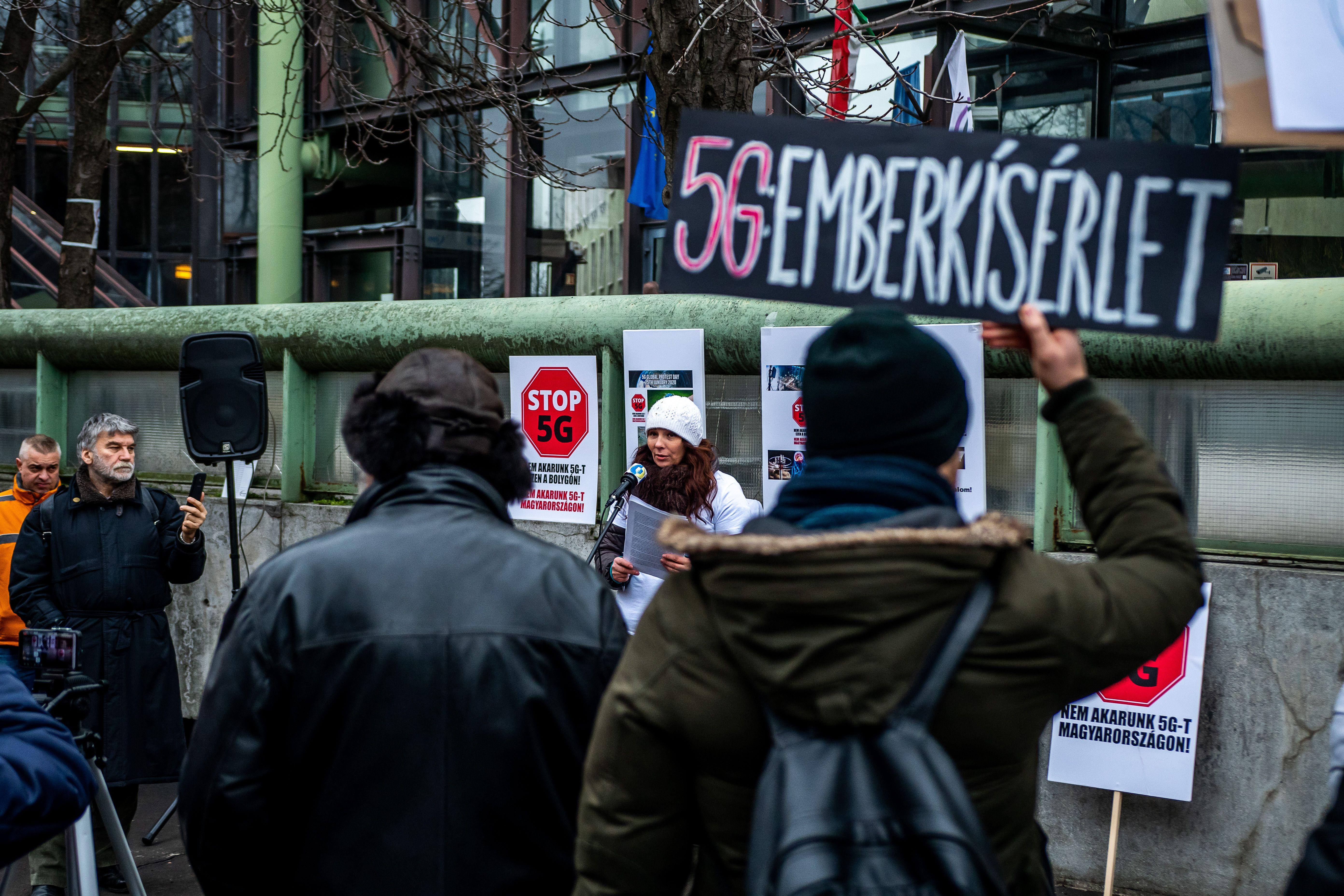 Tiltakozás az 5g ellen